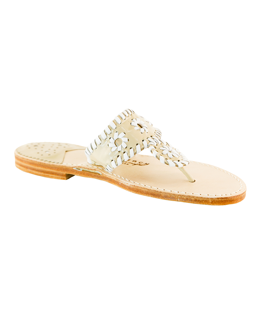51221798b154e love this product Chanel   White Palm Beach Classic Leather Sandal - Women