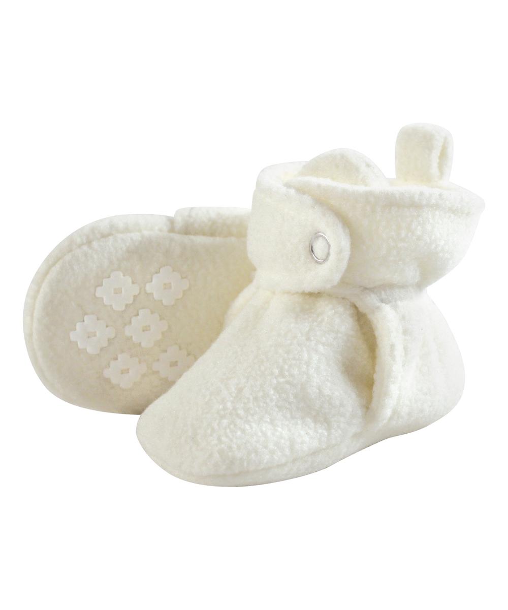 01c4ce57f1a Little Treasure Cream No-Skid Fleece Booties - Kids