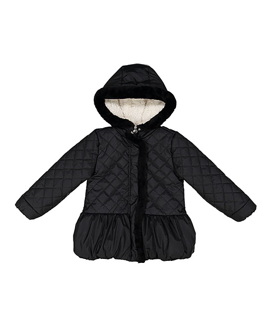 87fcc15f2688 Jessica Simpson Collection Black Quilted Puffer Jacket - Toddler ...