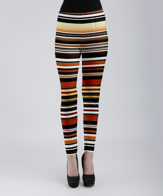 e8797c27e409a love this product Brown & Black Stripe Leggings - Women & Plus