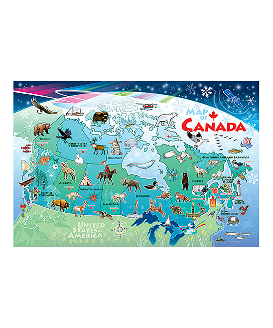 Small Map Of Canada.Cobble Hill Canada Map 35 Piece Puzzle