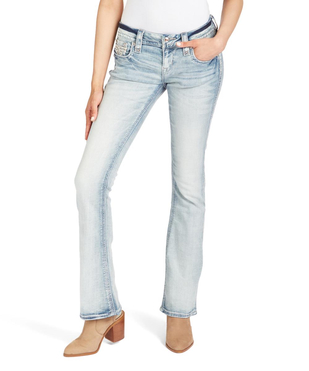 rock revival light blue brunella bootcut jeans - women | zulily