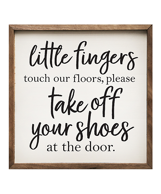 51b65130dbd7a Kendrick Home 'Please Take Off Your Shoes' Wall Sign