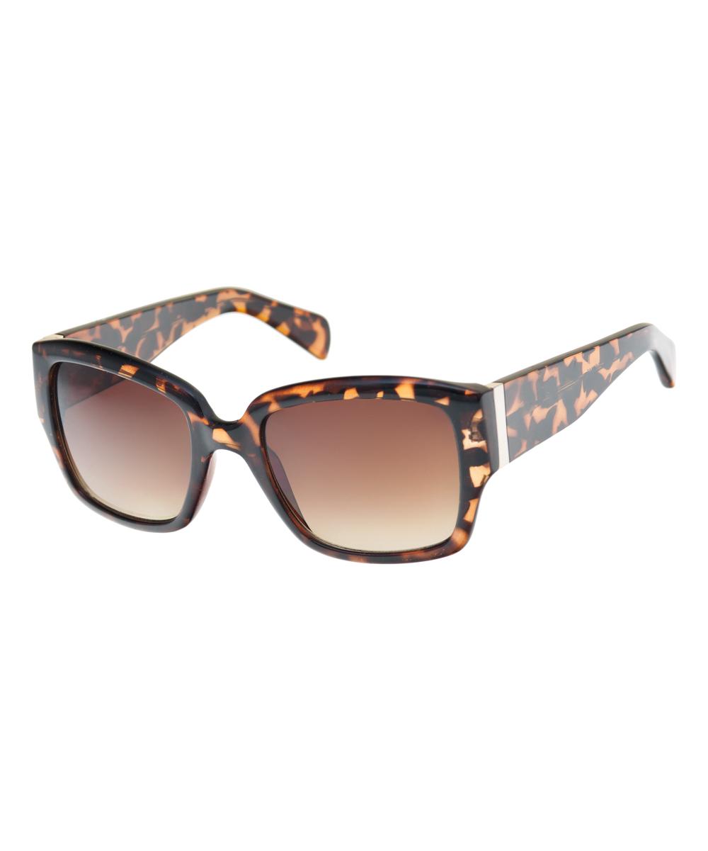 eda534ea44 French Connection Tortoise Oversize Sunglasses | Zulily