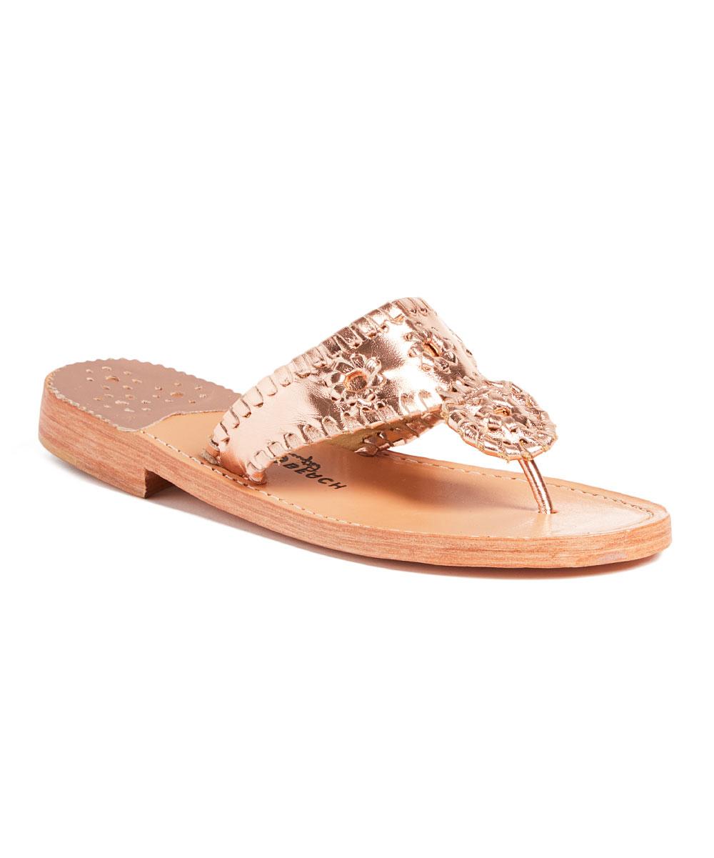 4836a56da18fa Palm Beach Sandals Rose Gold Palm Beach Classic Leather Sandal ...