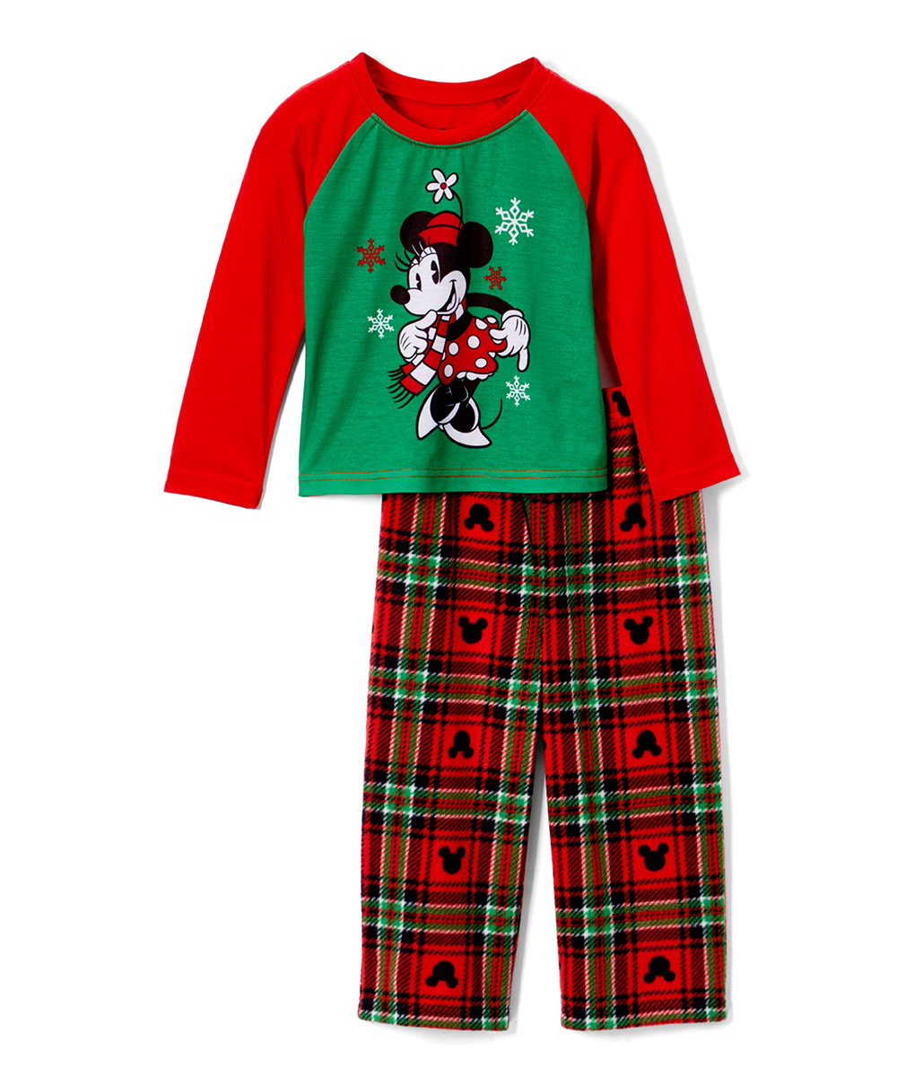 love this product Red   Green Minnie Mouse Pajama Set - Toddler 36342b545