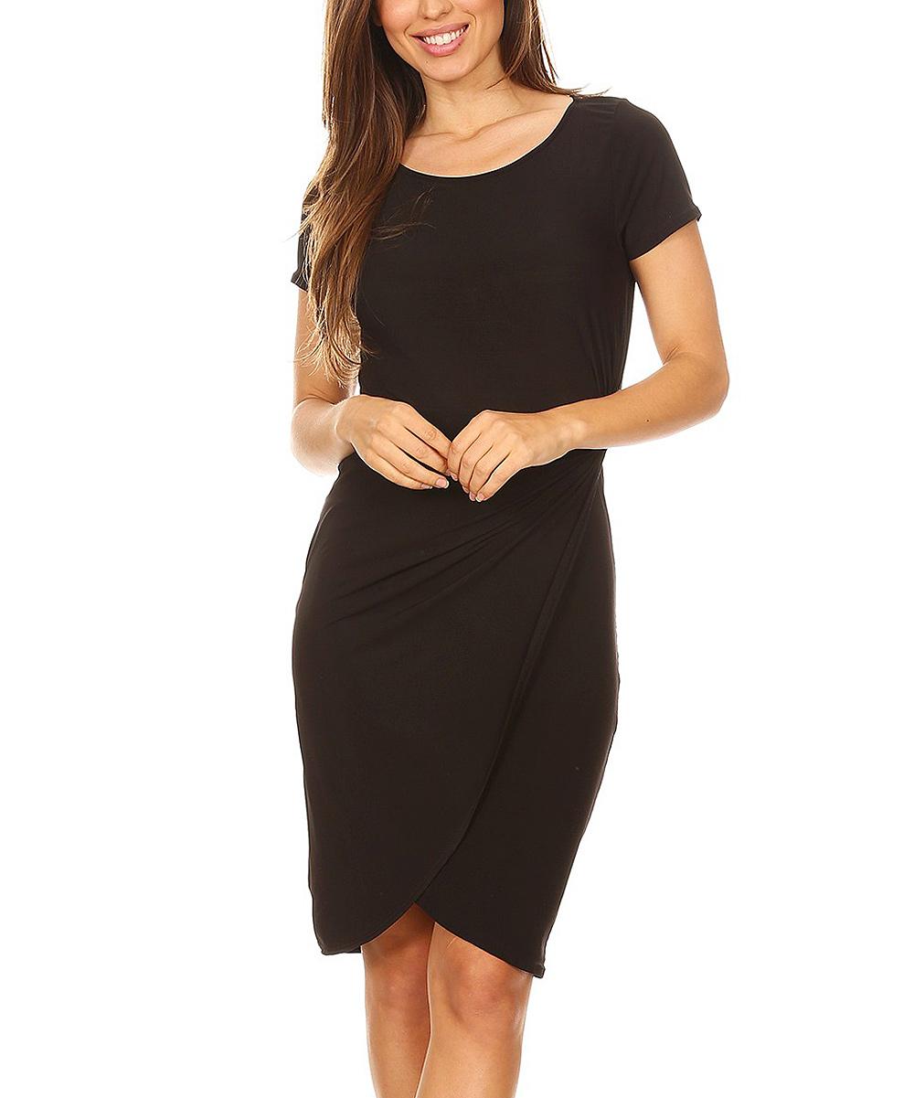 70616fd885 love this product Black Tulip-Hem Bodycon Dress - Women