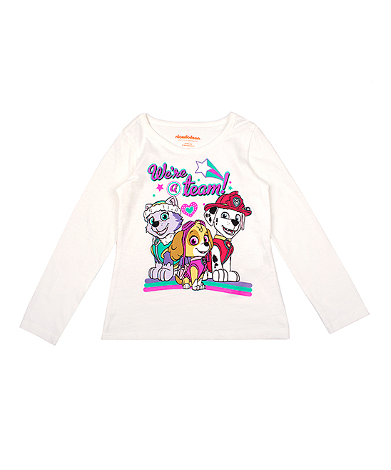 7fc665e26 love this product PAW Patrol Off-White 'We're a Team' Long-Sleeve Tee -  Toddler