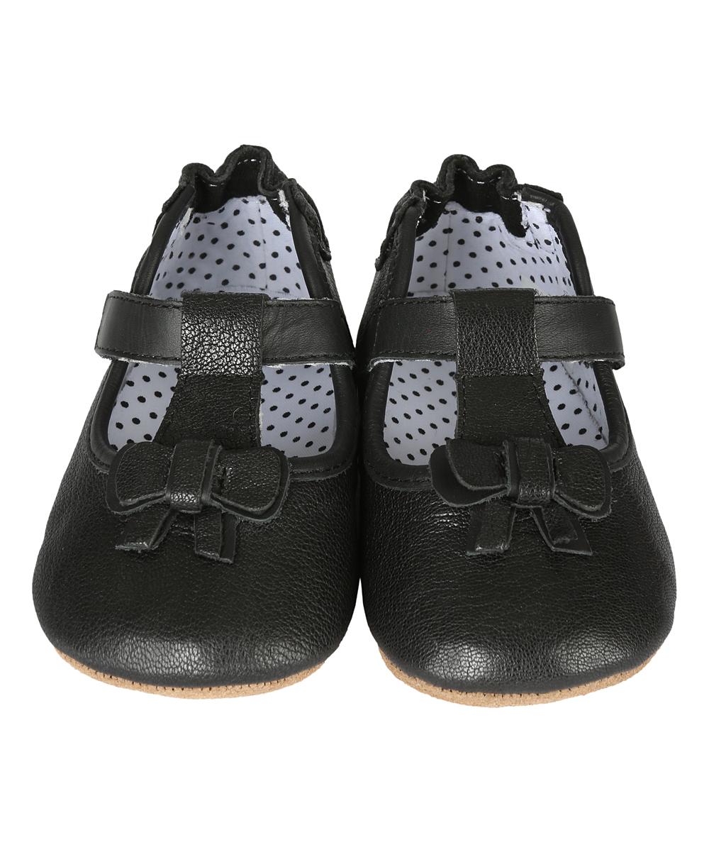 8ec77d80cb1 Robeez Black T-Strap Tori Leather Bootie - Girls