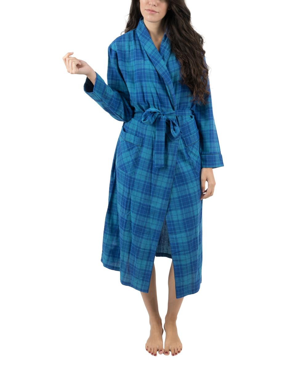 12c73bbc06 Love this product blue navy plaid flannel robe women jpg 1000x1201 Flannel  robe