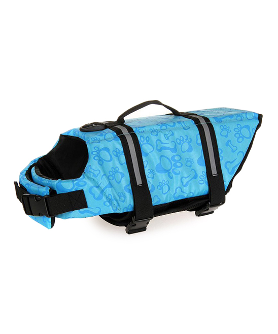 7df4fe81249c Light Blue Paw Print Pet Life Jacket - Royal Wise - Zulily