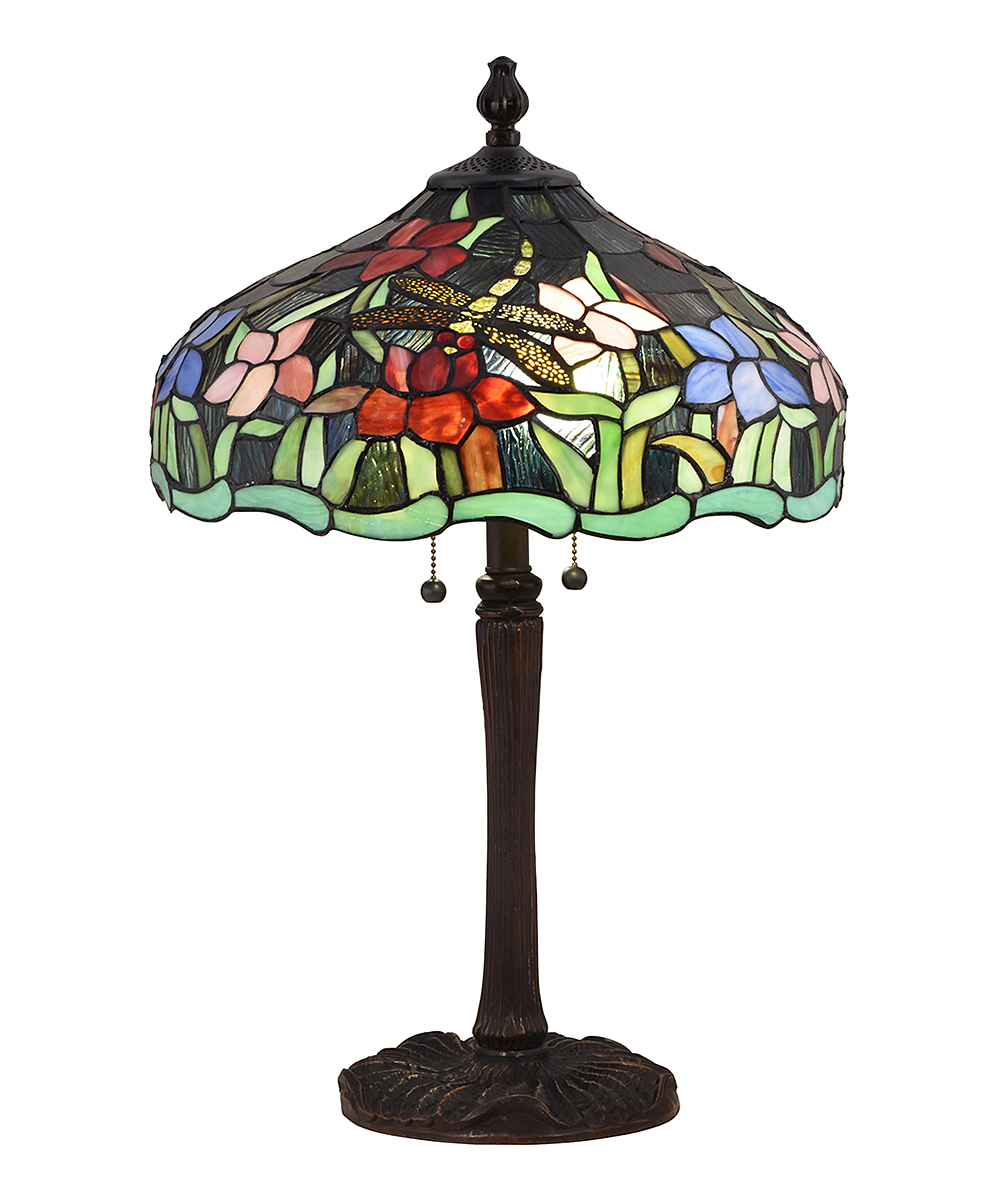 Dale Tiffany Green U0026 Red Floral Mosaic Table Lamp