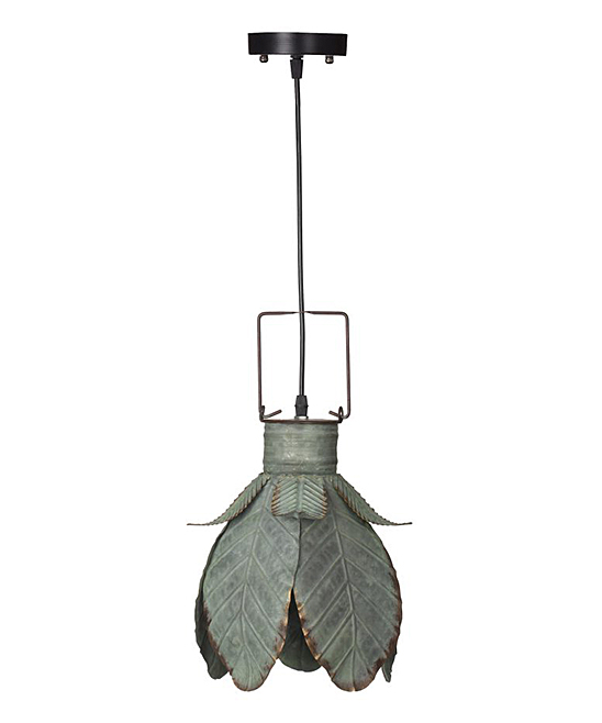 Established 98 Fleur Galvanized Pendant Light Zulily