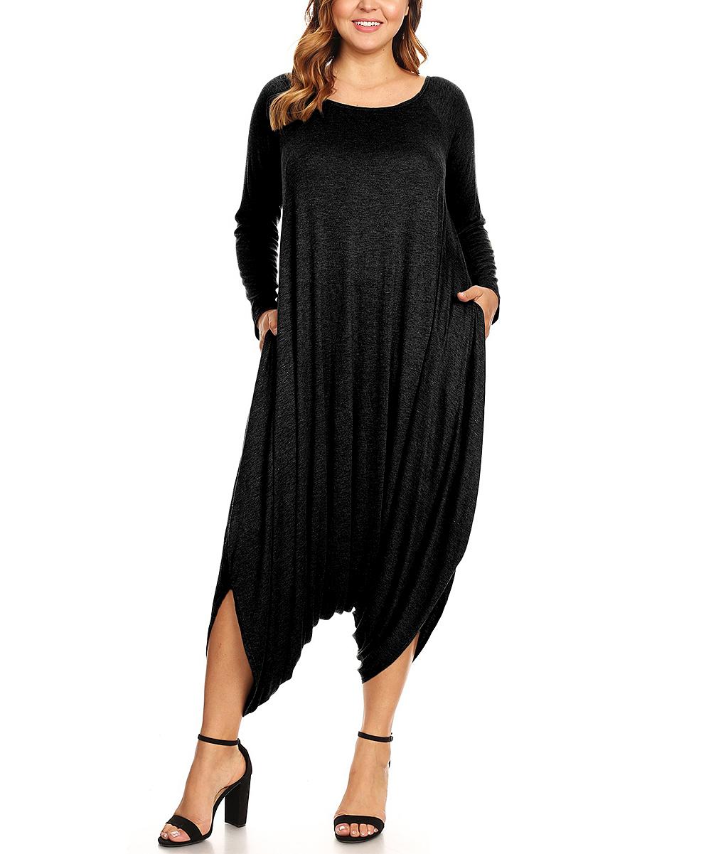 aa7bda169e love this product Black Harem Jumpsuit - Plus