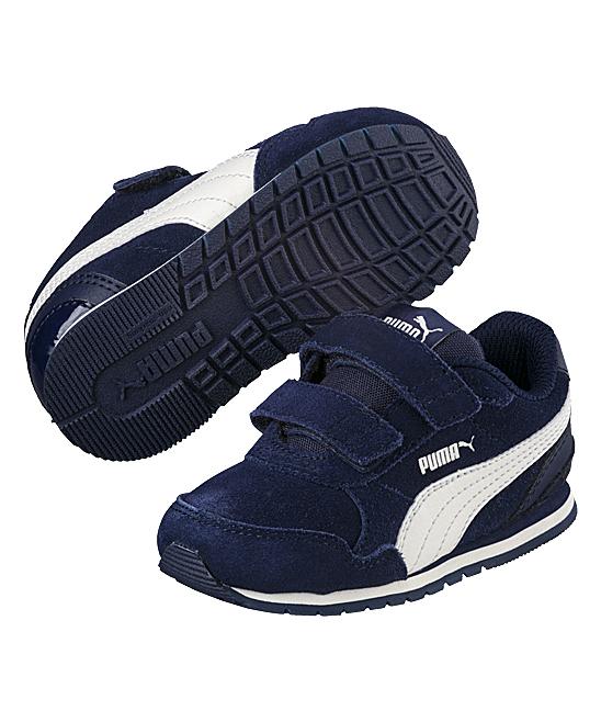 73a10a5259 PUMA Peacoat & Whisper White Street Runner V2 SD V PS Sneaker - Boys