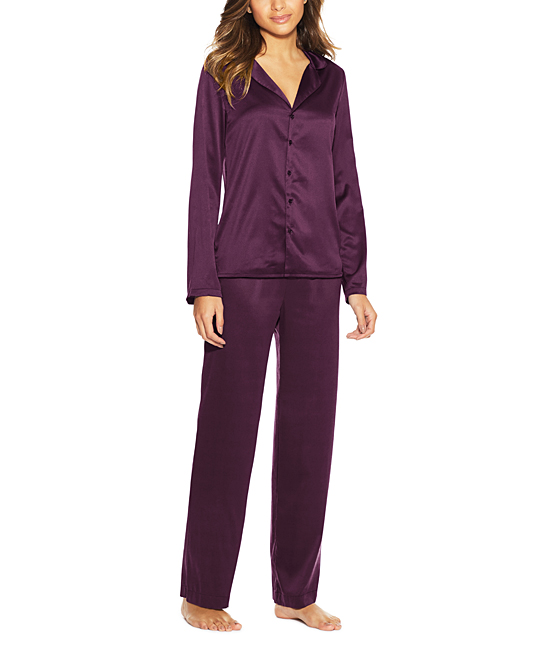 b8202a4470 Potent Purple Satin Pajama Set - Women