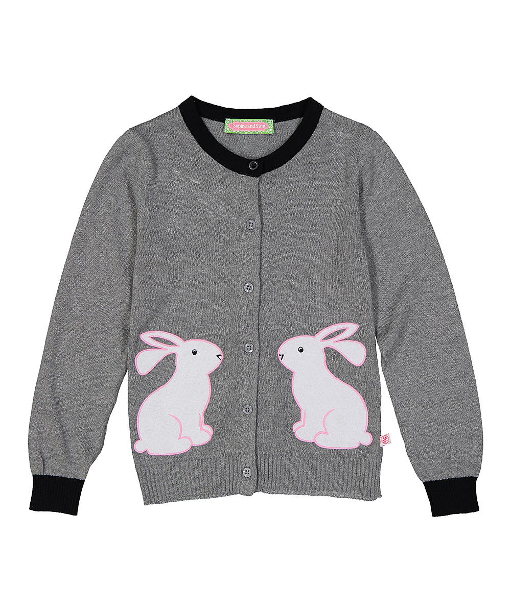 45b47b70a Sophie   Sam Gray   Pink Rabbit Cardigan - Infant