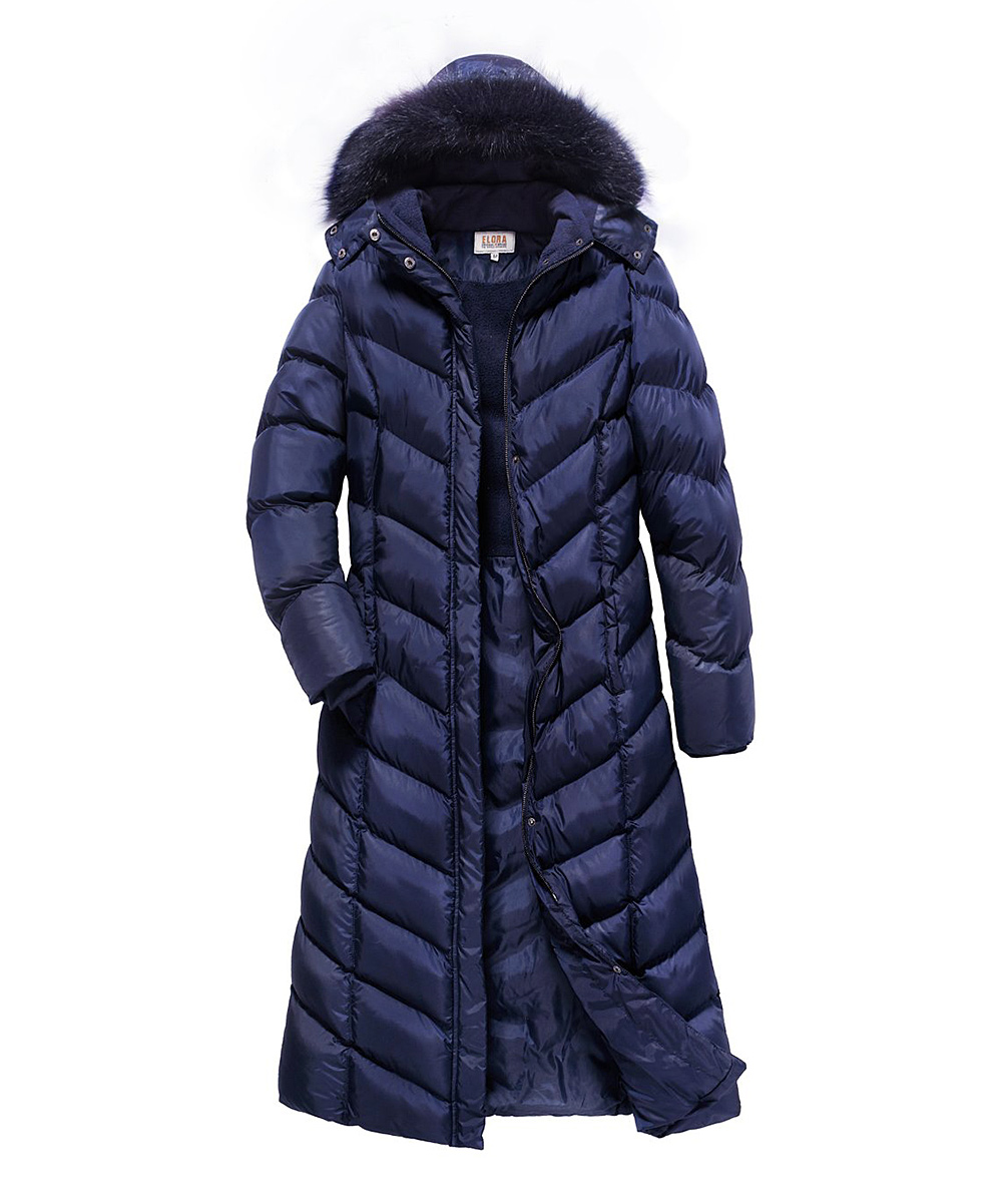 bf4cd9a1 love this product Navy Faux Fur-Trim Puffer Parka - Women & Plus