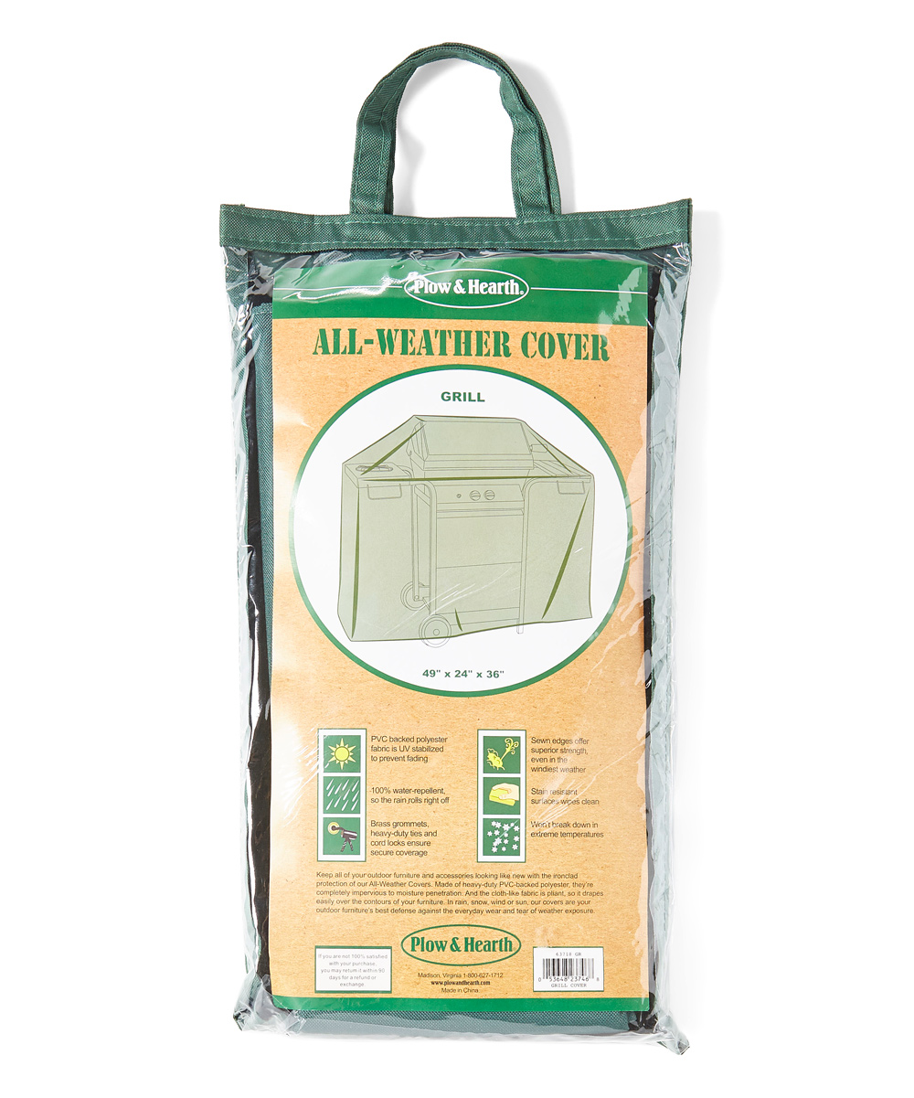 Plow Hearth 48 5 Green Grill Cover Zulily