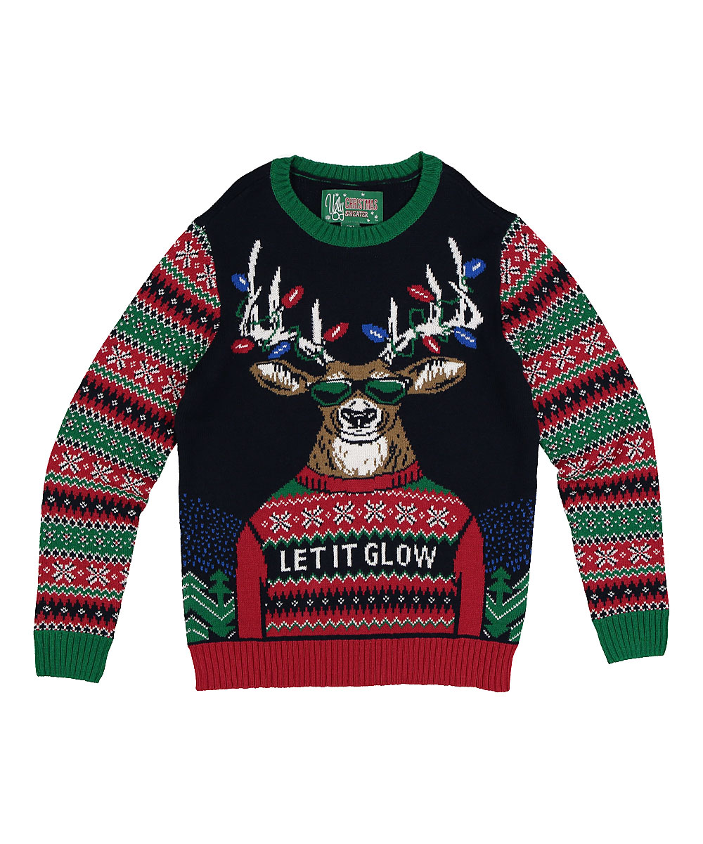93d46797 Ugly Christmas Sweater Twilight Let It Go Reindeer Sweater - Boys ...