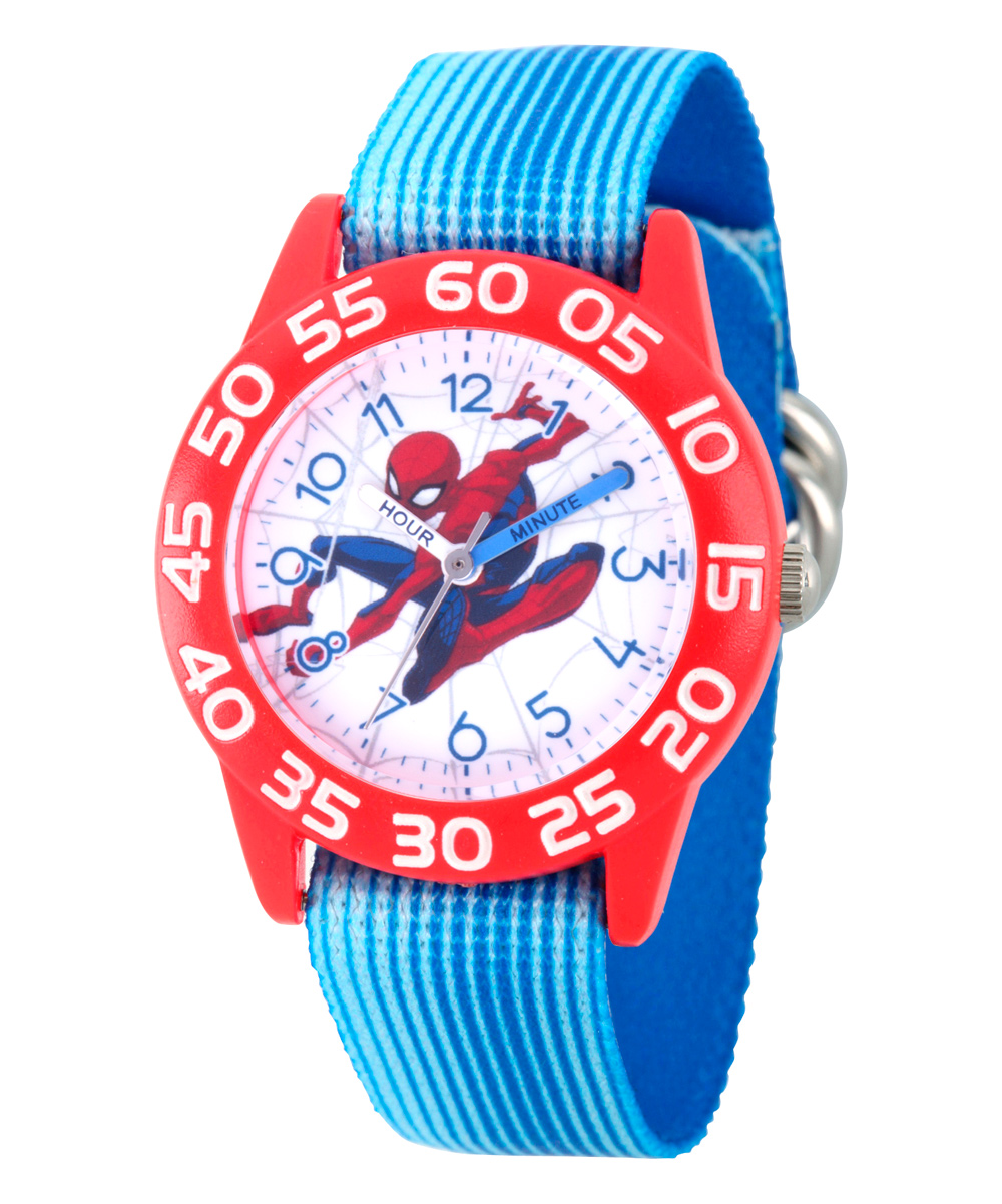 49bc24d23 love this product Marvel Spider-Man Boys  Red Plastic Time Teacher Watch