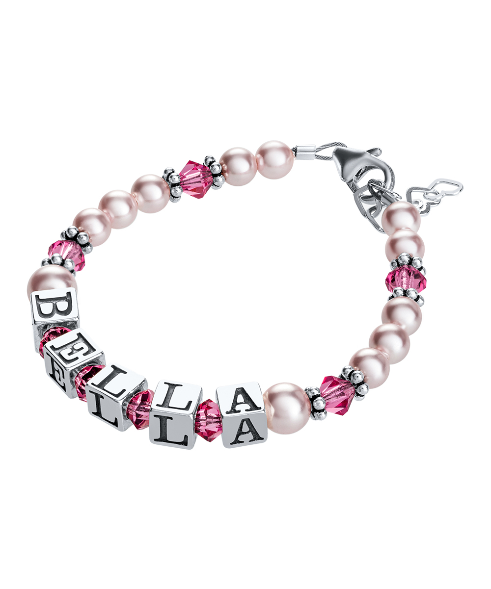006a8a00e5803 Sterling Silver Personalized Bracelet With Swarovski® Crystals