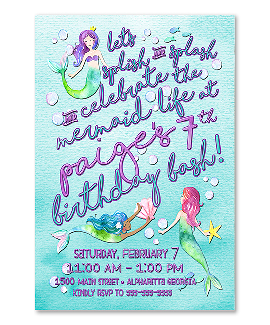 Love This Product 10 Ct Mermaid Birthday Invitation Personalized Card Set