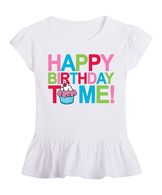 Love This Product White Happy Birthday To Me Ruffle Tee