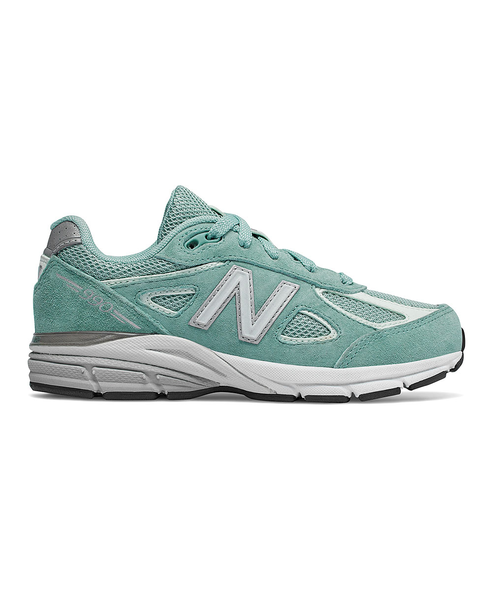new style 46881 46343 New Balance Mineral Sage 990V4 Suede Running Shoe - Girls | Zulily