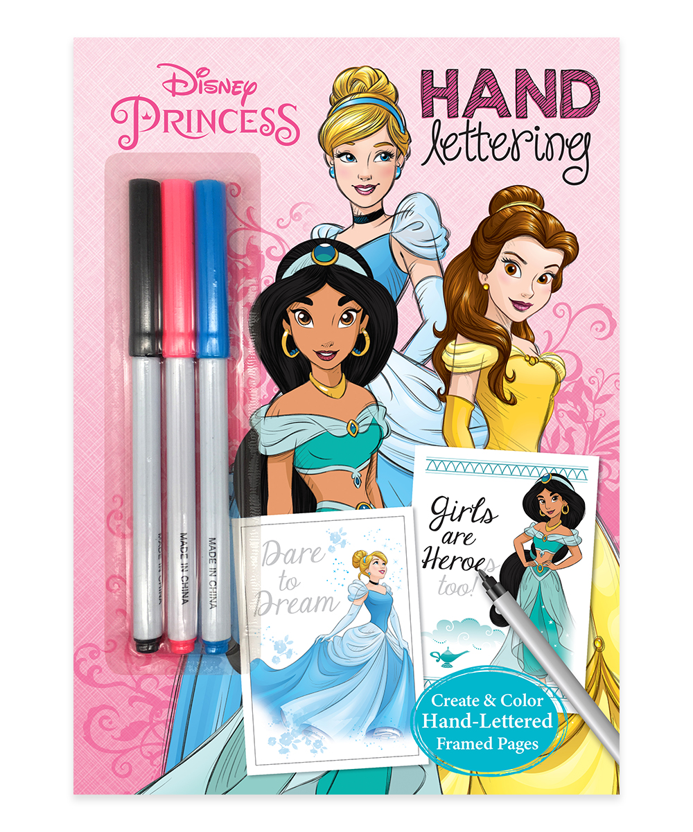 Dreamtivity Disney Princess Coloring Book & Markers