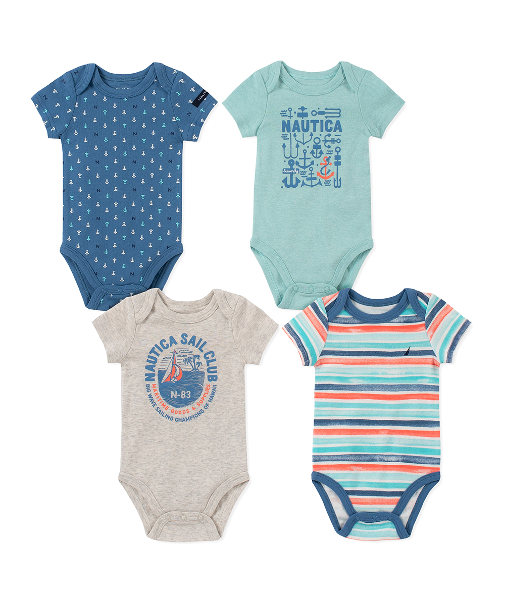 46db22271ab3 love this product Navy & Gray Bodysuit Set - Newborn & Infant