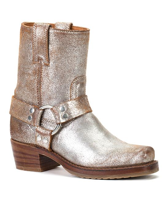 Frye Silver Metallic Harness Leather Boot Women Zulily