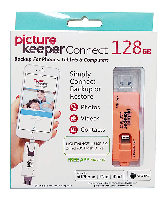Picture Keeper Peach Picture Keeper Connect 128-GB Mobile Backup for iPhone