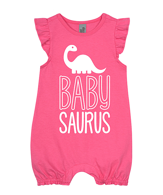 6eff283b98c love this product Hot Pink  Babysaurus  Flutter-Sleeve Romper - Newborn    Infant