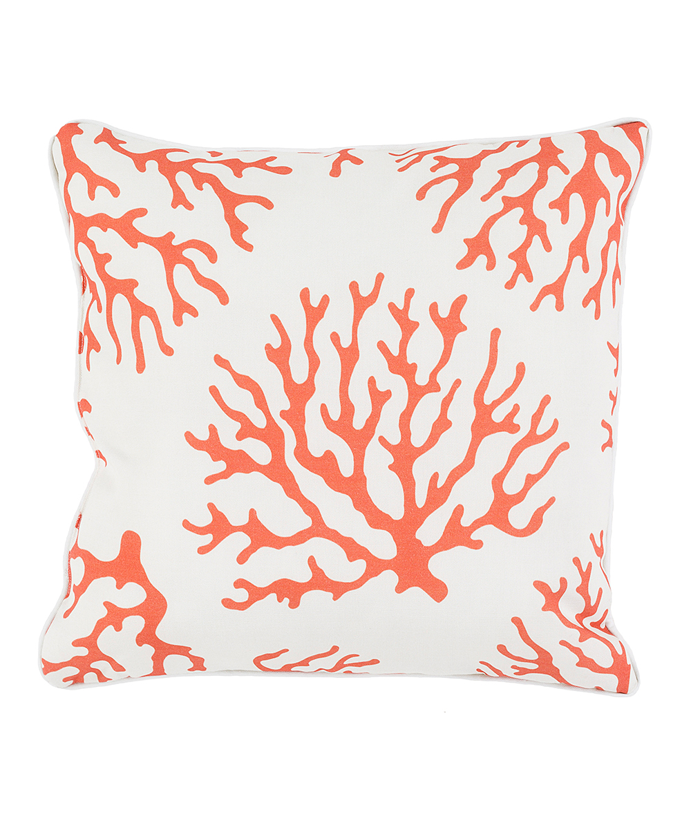 Burnt Orange Coral Outdoor Throw Pillow Zulily