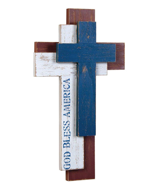 nice Cross Wall Art Part - 14: love this product u0027God Bless Americau0027 Trinity Cross Wall Art