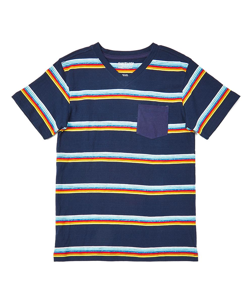 056c20d05 Smiths American Navy Stripe V-Neck Tee - Boys | Zulily