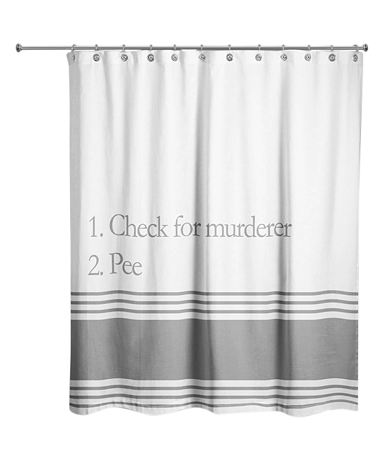 Bathroom Checklist Shower Curtain