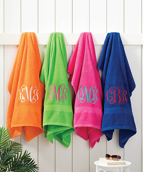 Large Monogrammed Beach Towels.Personalized Planet Large Monogram Beach Towel