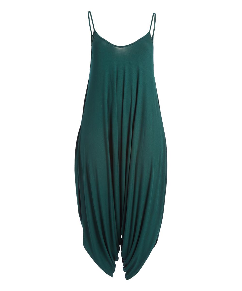 48c38adf784 CANARI Dark Emerald Green Harem Jumpsuit