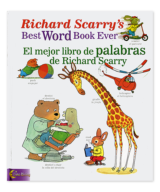 National Book Network Richard Scarrys Word Book Bilingual: English/Spanish  Hardcover