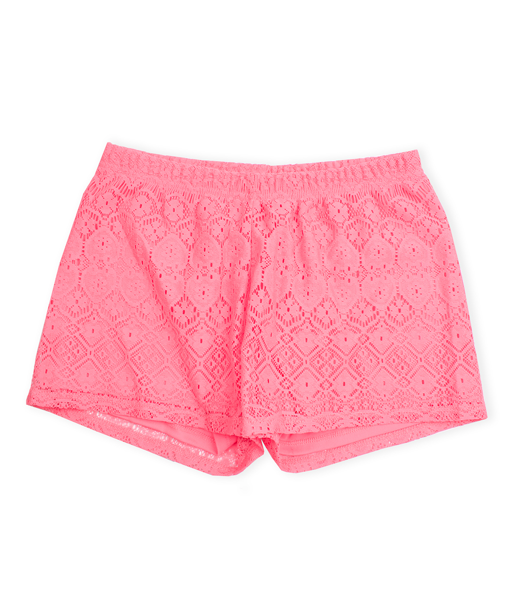 Ps From Aéropostale Coral Crochet Lace Short Girls Zulily