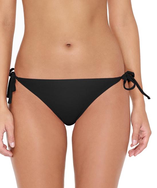 de56a434f64 Black Side-Tie Bikini Bottoms - Women - Hot water - Zulily