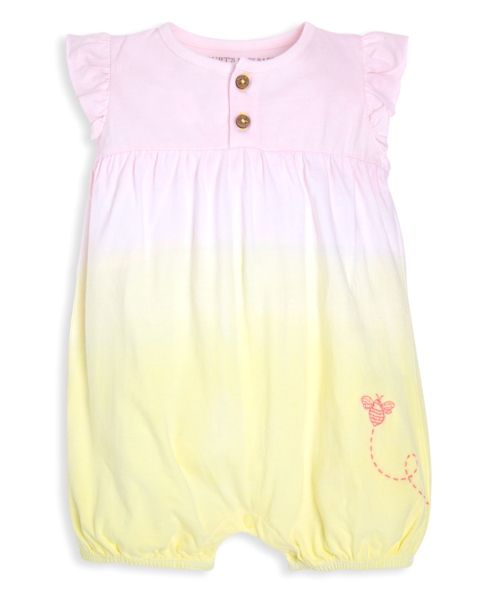 9df7cf8bfa0db Burt's Bees Baby Sunflower & Pink Ombré Organic Cotton Bubble Romper -  Infant