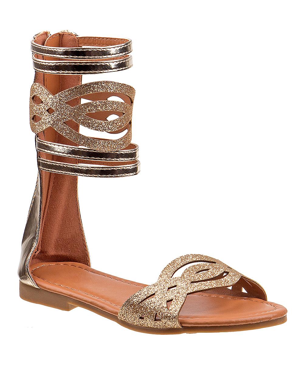 be2c7c3b0 Kensie girl gold glitter gladiator sandal girls zulily jpg 1000x1201 Gladiator  sandals for girls