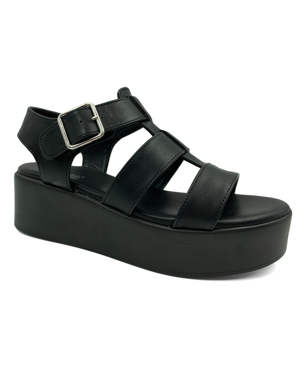 bfbbcaba9aa6 love this product Black Bonus Three-Strap Platform Sandal - Women