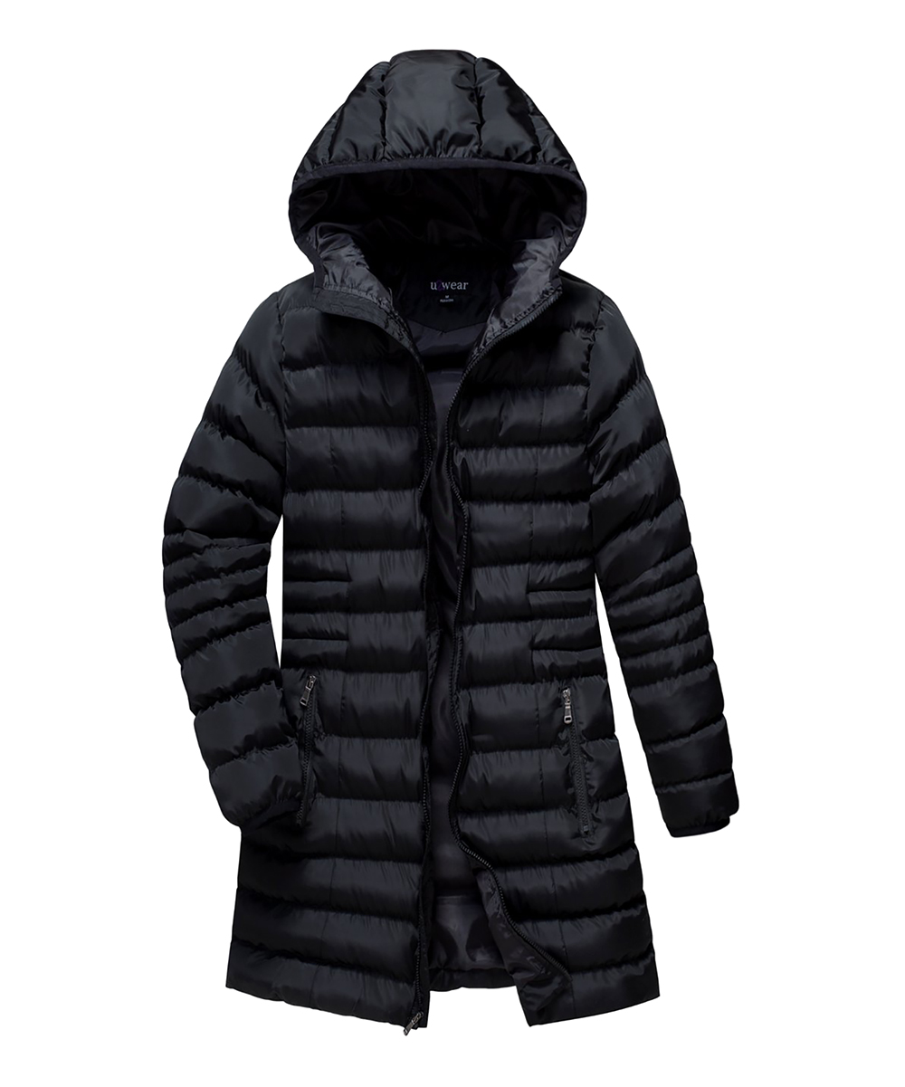 b52227877d784 love this product Black Hooded Puffer Coat - Women   Plus