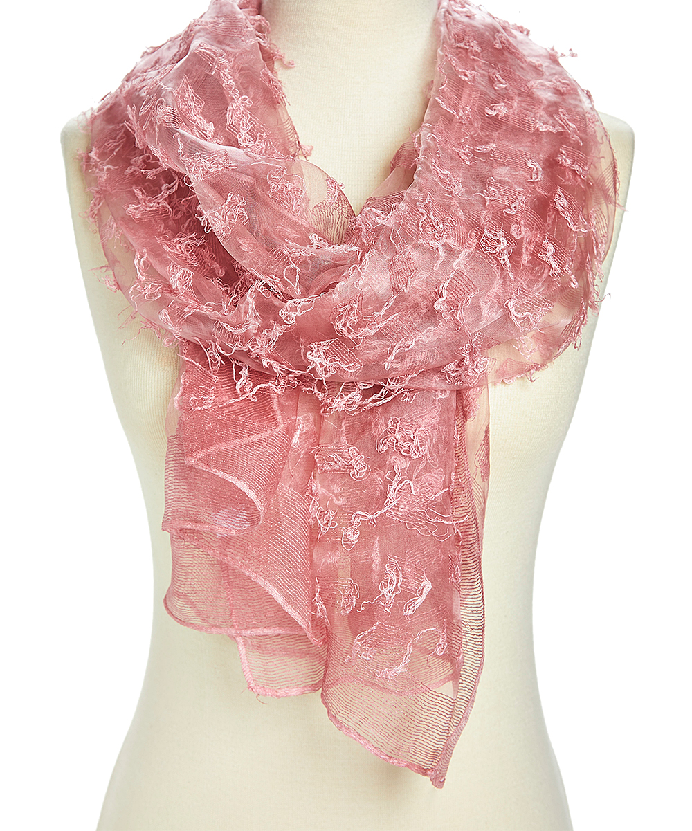 72bd5395e love this product Pink Sheer Textured Scarf - Women