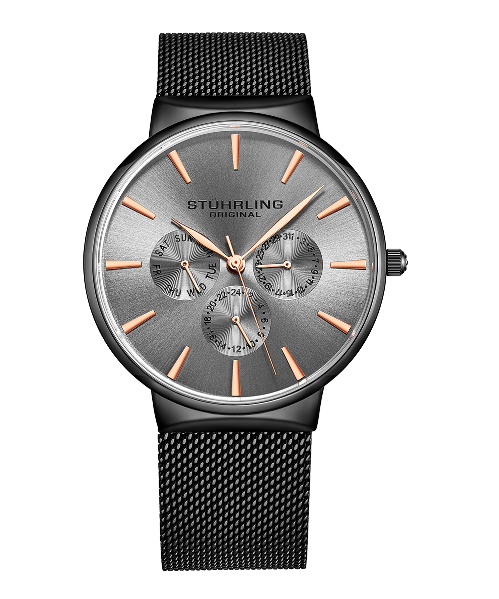 Stuhrling Gray Monaco Bracelet Watch Zulily