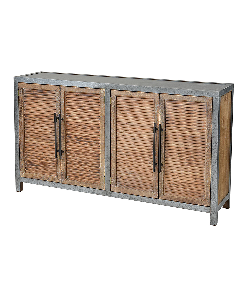 Gentil Drifted Oak U0026 Aged Iron Two Door Cabinet